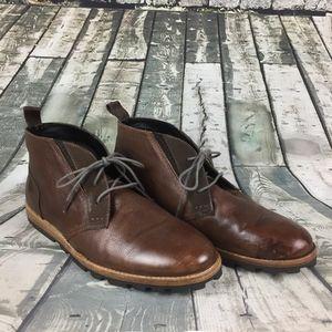 Ben Sherman Leather Chukka Boots Men Sz 10